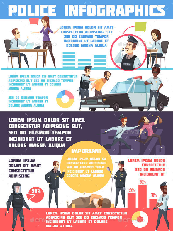 Police Infographics Layout - Business Conceptual