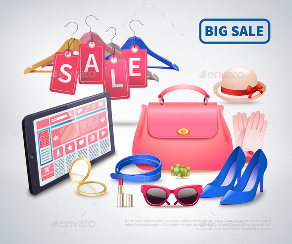 Big Sale Accessories Composition - Miscellaneous Vectors