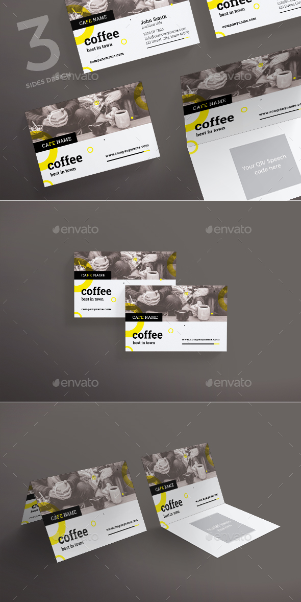 GraphicRiver Coffee Shop Business Card 20878101