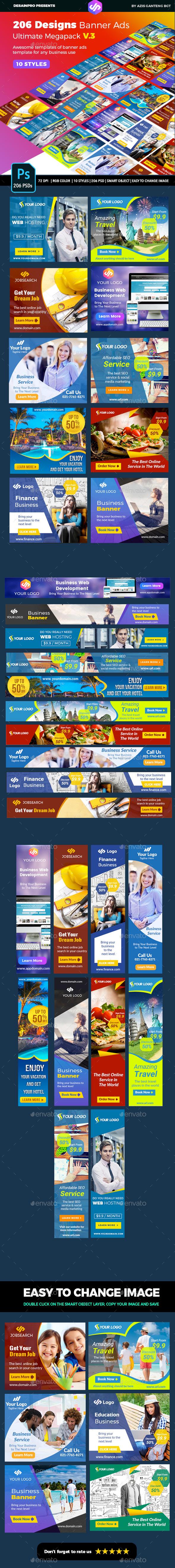 Banner Ads Ultimate Bundle V3 - Banners & Ads Web Elements