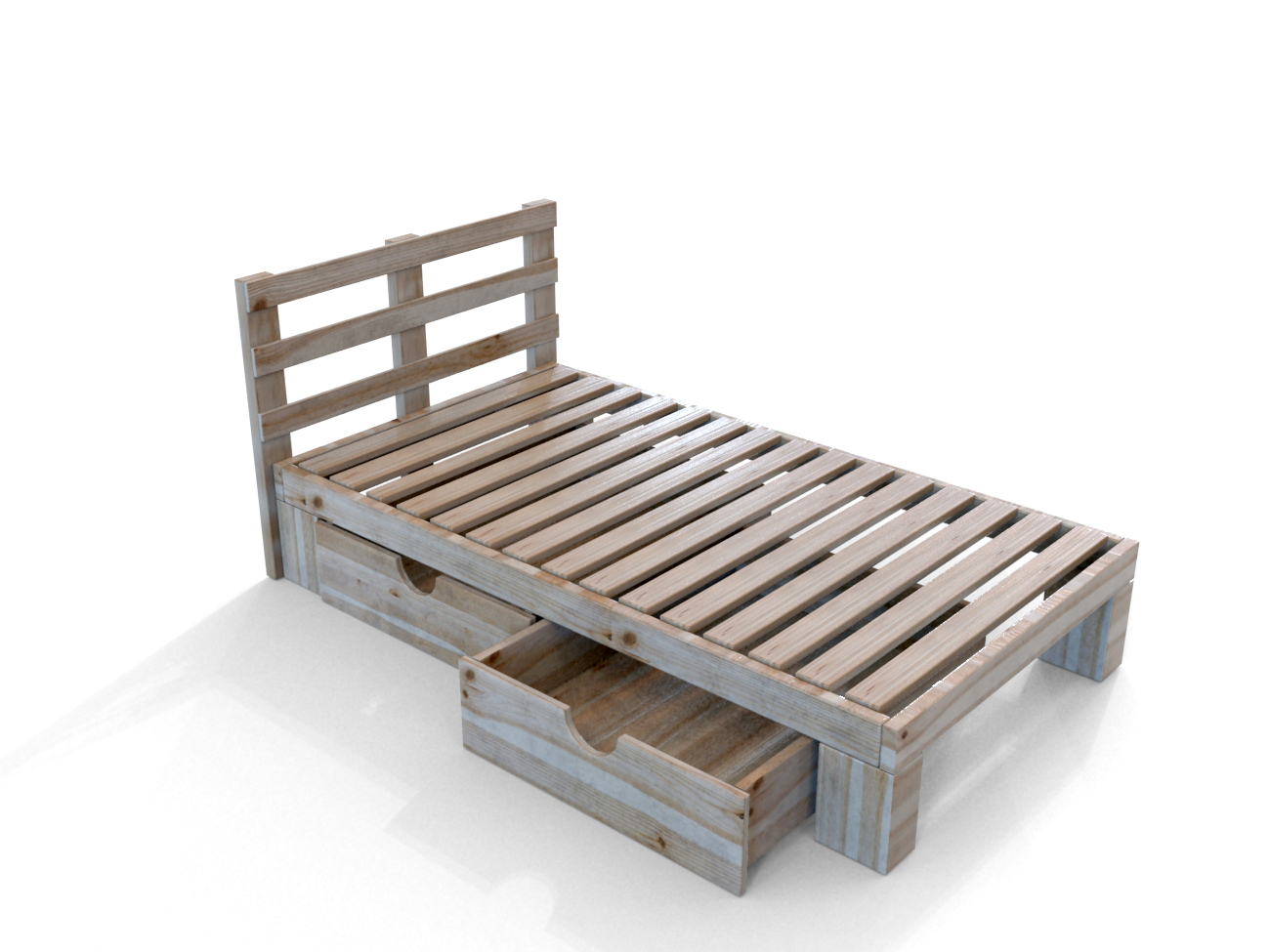 Delicieux Simple Wooden Bed