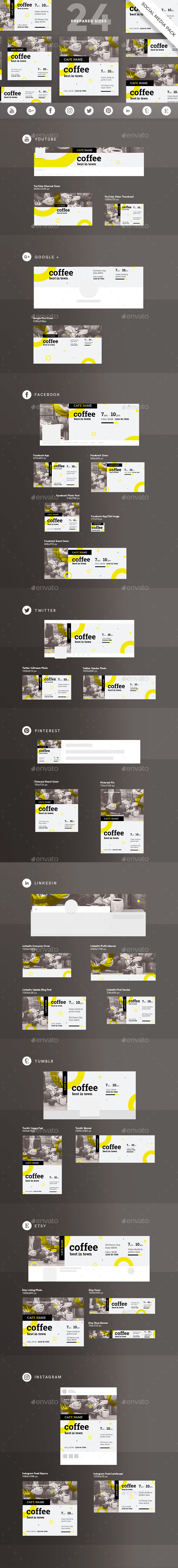 Coffee Shop Social Media Pack - Miscellaneous Social Media