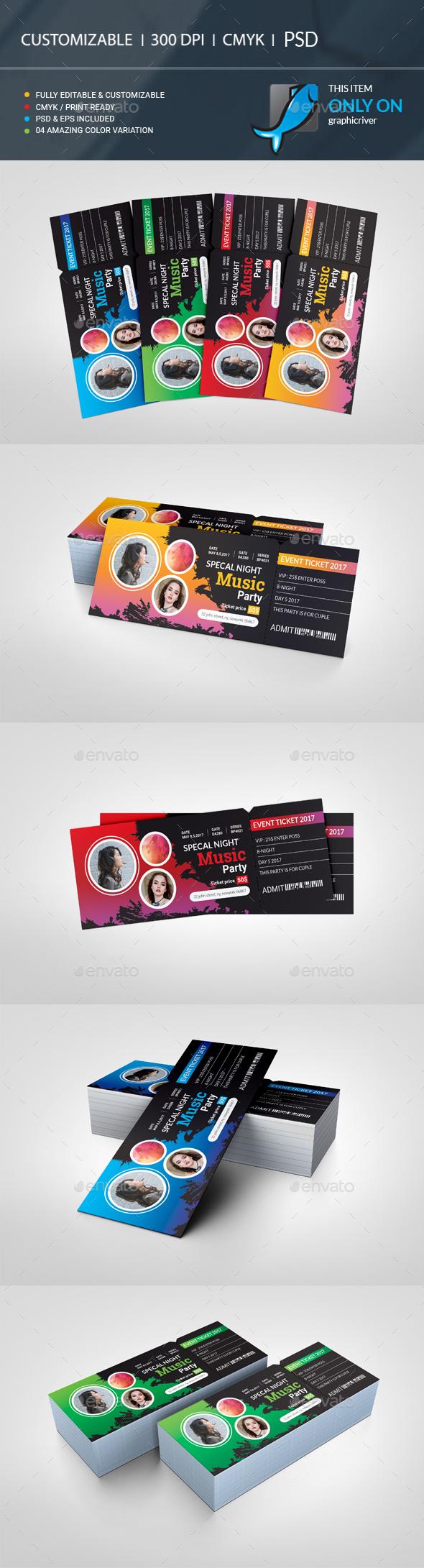 GraphicRiver Event Ticket VIP 20878275