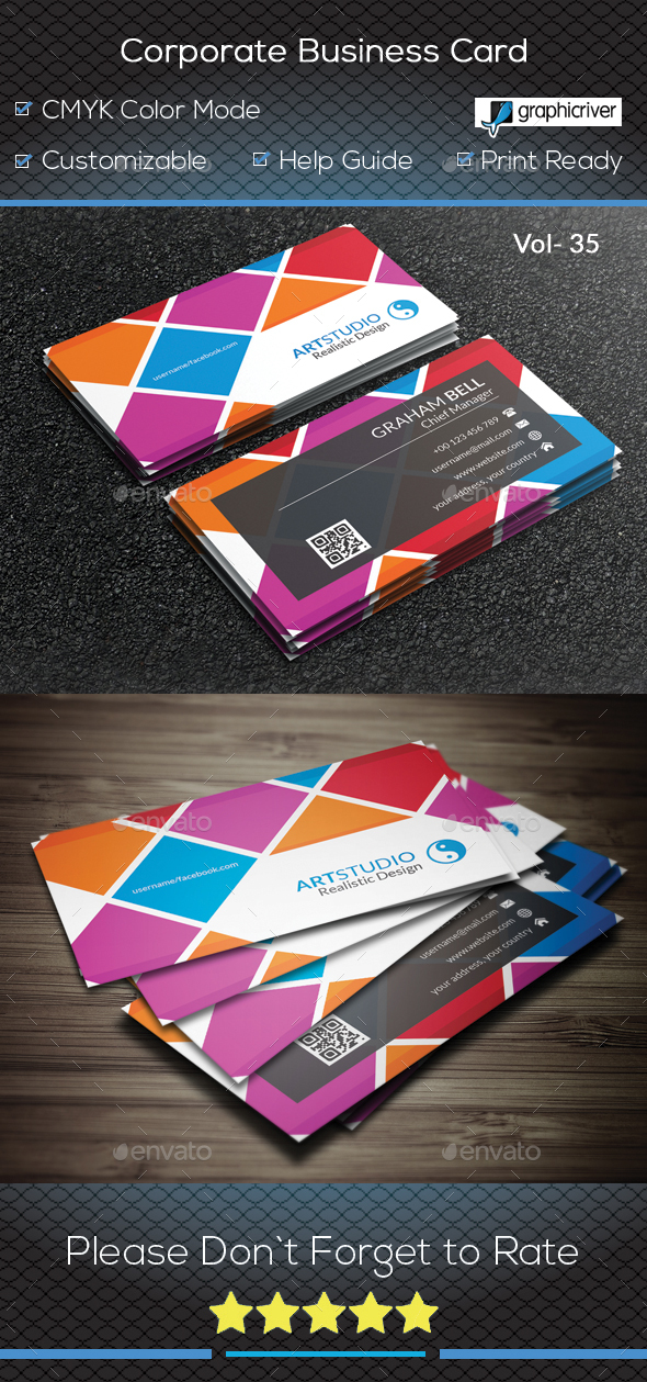 GraphicRiver Corporate Business Card V 35 20878347