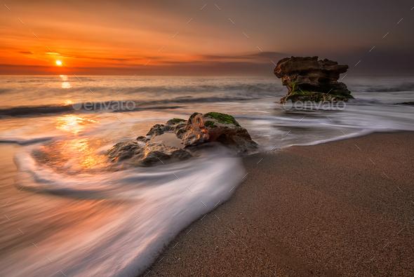 Sea sunrise - Stock Photo - Images