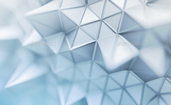 Abstract 3D Rendering of Polygonal Background. - Abstract 3D Renders