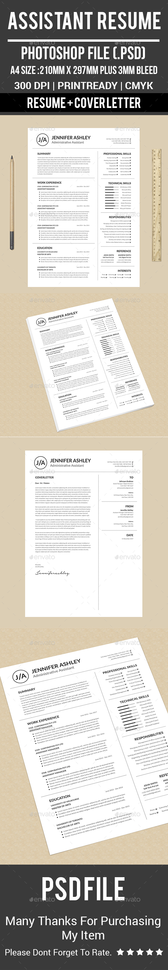 Assistant Resume - Resumes Stationery