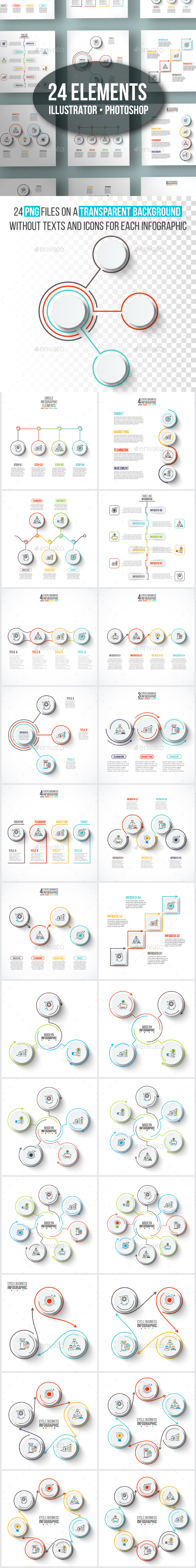 GraphicRiver Clean infographic pack 20878691