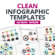 Clean infographic pack - GraphicRiver Item for Sale