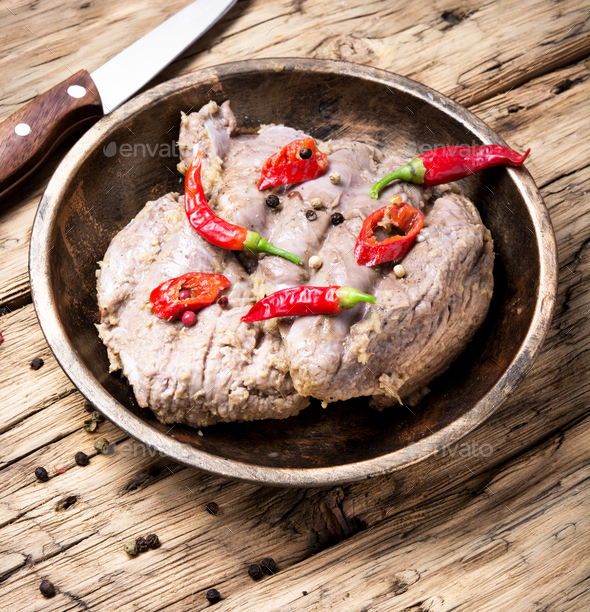 Stew meat with pepper - Stock Photo - Images