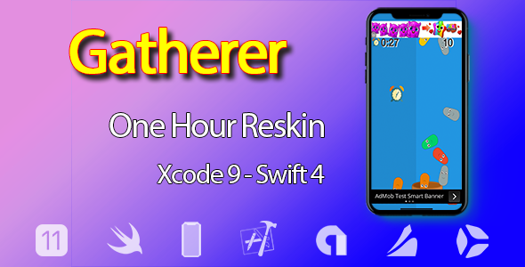 CodeCanyon Gatherer One Hour Reskin iOS 11 and Swift 4 ready 20879085