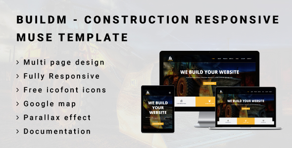 ThemeForest BUILDM Construction Responsive Muse Template 20879106