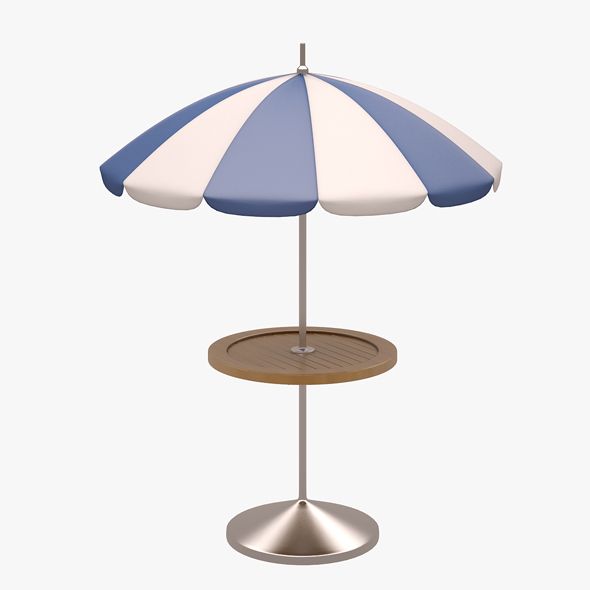 3DOcean Patio Table with Umbrella 20879256