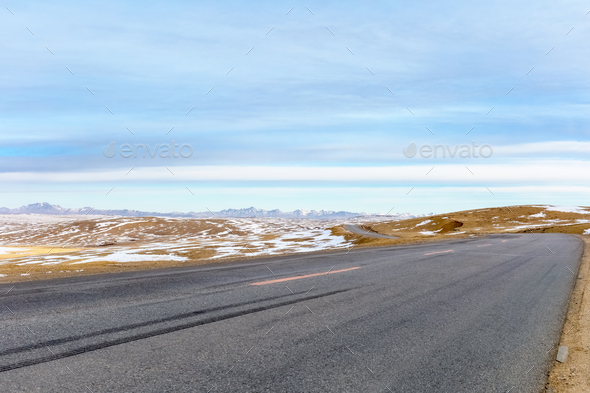 road on plateau - Stock Photo - Images