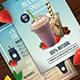 Milkshake & Smoothie Menu Template