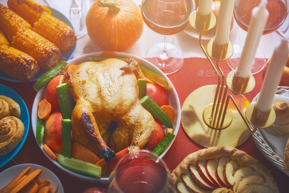 Happy Thanksgiving Day - Stock Photo - Images