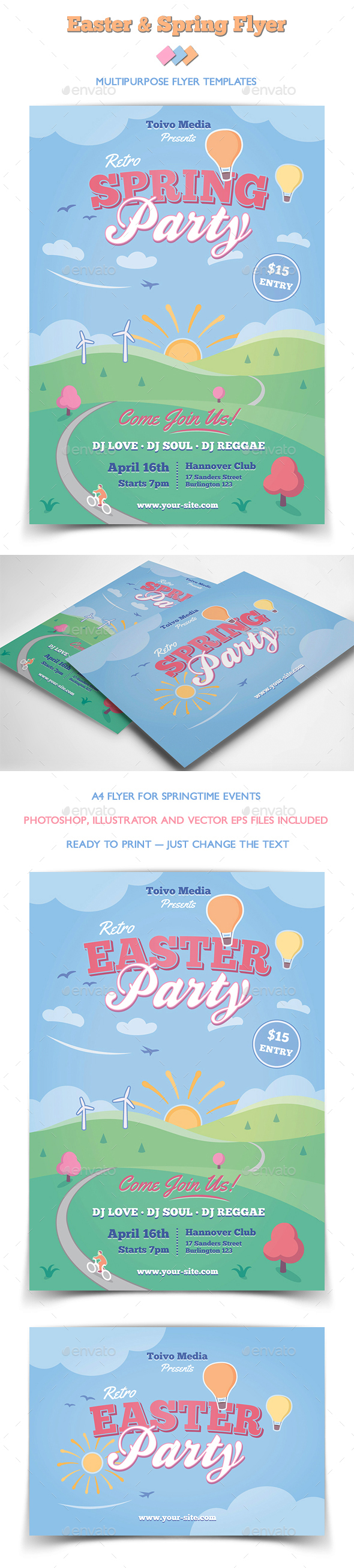 Easter and Spring Flyer - Miscellaneous Events