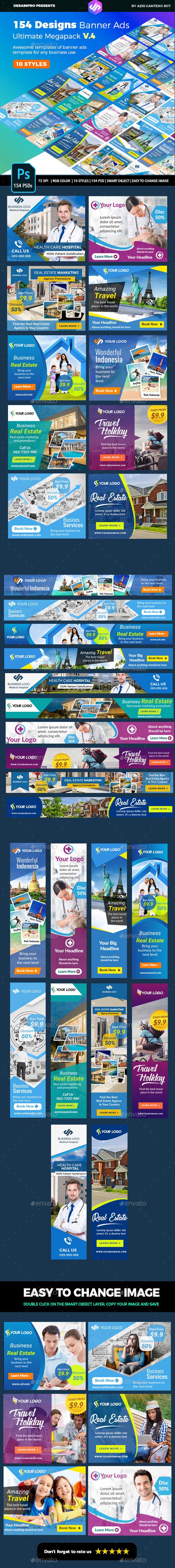 Banner Ads Ultimate Bundle V4 - Banners & Ads Web Elements