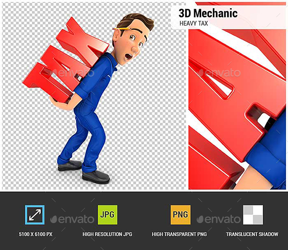 GraphicRiver 3D Mechanic Heavy Tax 20880274