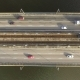 Aerial Top Down View Shot of Traffic on a Car Bridge.  Video - VideoHive Item for Sale