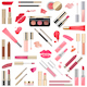 Vector Lips Makeup Cosmetics