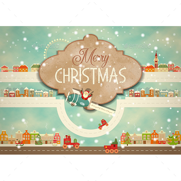 GraphicRiver Merry Christmas Greeting Card 20880390