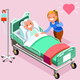 Retirement Home Isometric People Vector - GraphicRiver Item for Sale