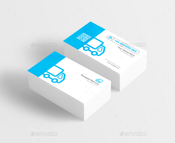 Transport service business card by ikkkreative graphicriver transport service business card colourmoves