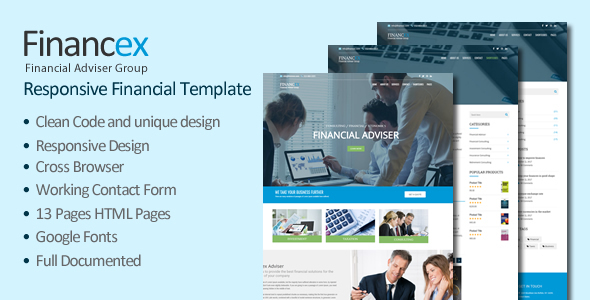Financex – Financial Consulting & Business HTML Template - Corporate Site Templates