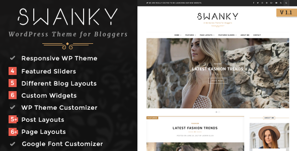 Swanky - A Responsive WordPress Blog Theme