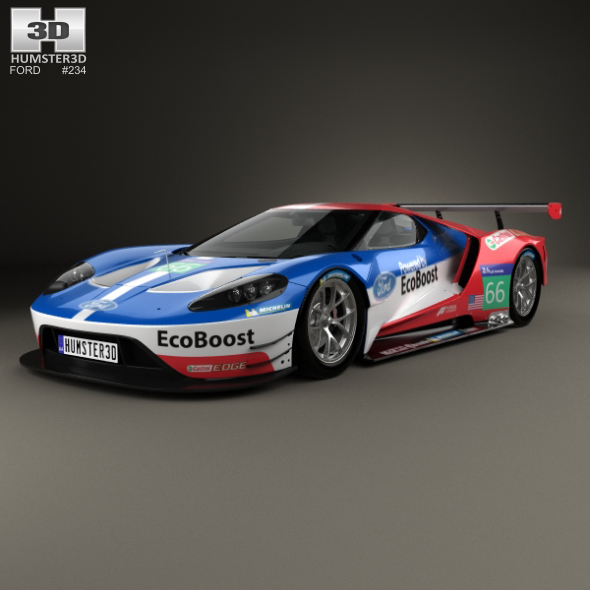 Ford GT Le Mans Race Car 2016 - 3DOcean Item for Sale