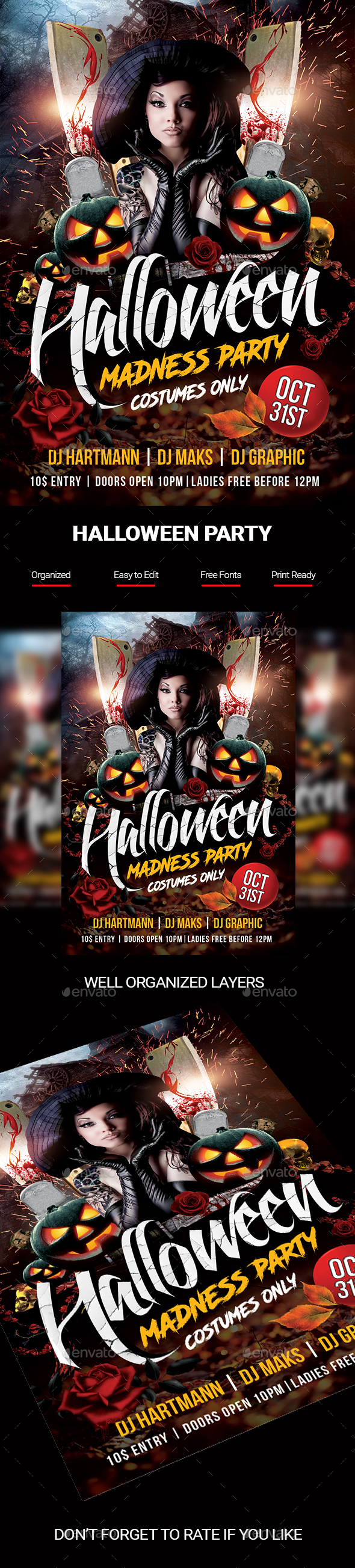 GraphicRiver Halloween Madness Flyer 20880841