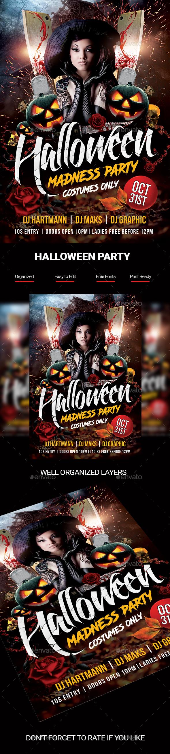 Halloween Madness Flyer