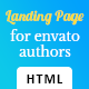 Landing Page HTML Template for Envato Authors
