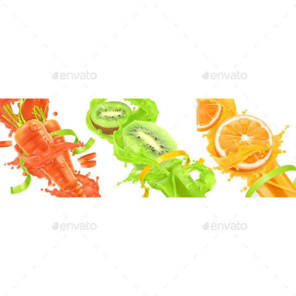 GraphicRiver Natural Fruit and Vegetables 20880858