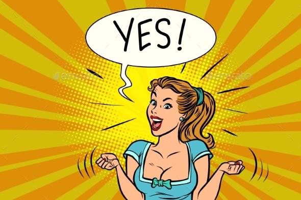 GraphicRiver Yes Joyful Woman 20880921