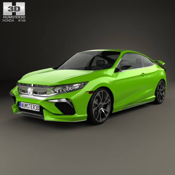 Honda Civic coupe Concept 2015