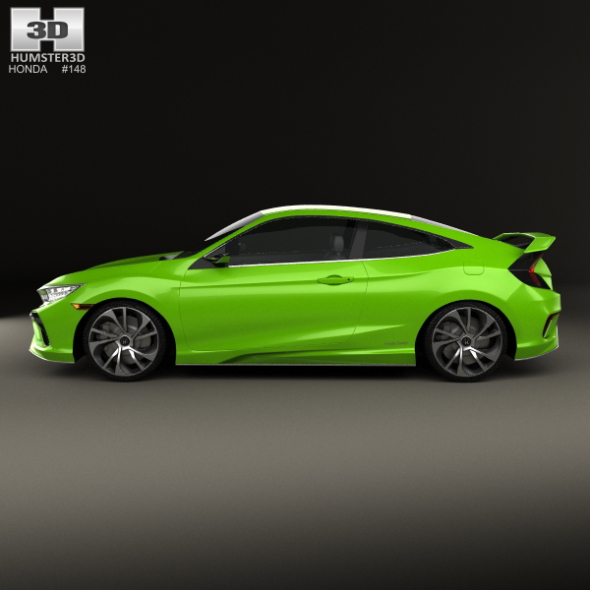 honda civic coupe concept 2015 by humster3d 3docean. Black Bedroom Furniture Sets. Home Design Ideas