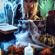 Young Witch Is Cooking With Magic Bones - PhotoDune Item for Sale