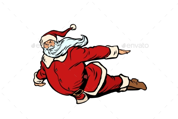 Santa Claus Flying Superhero - Christmas Seasons/Holidays
