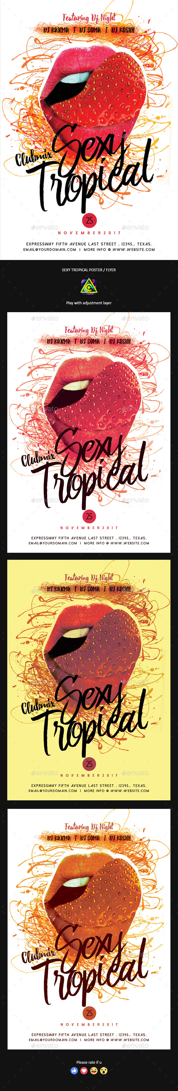 Sexy Tropical Poster / Flyer - Clubs & Parties Events