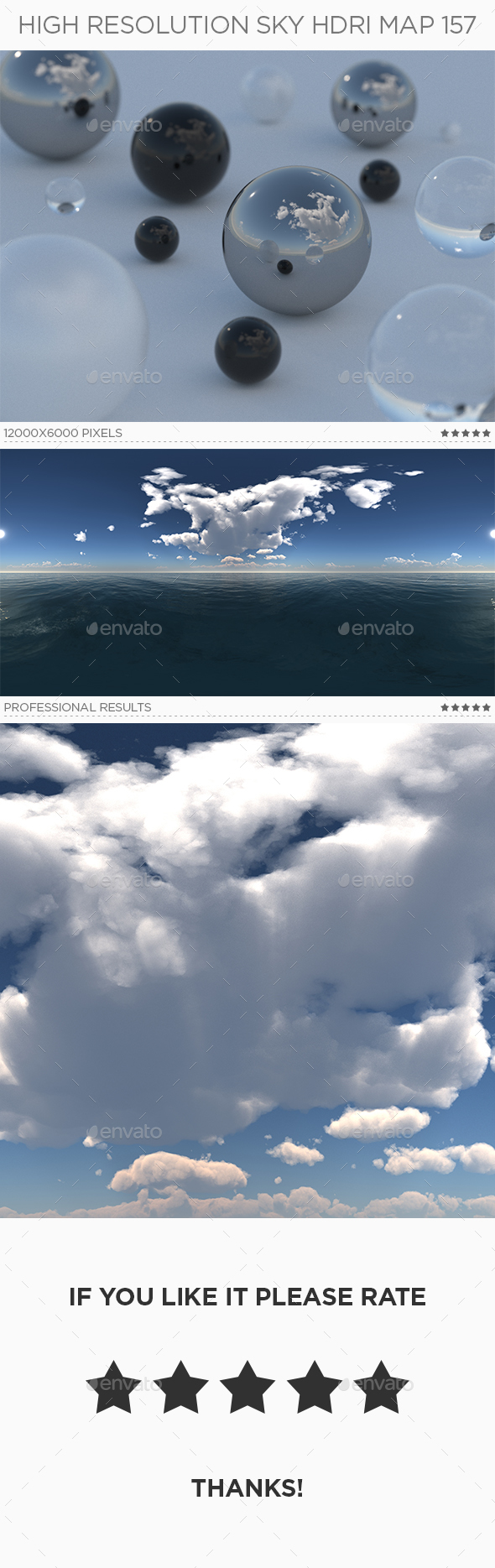 High Resolution Sky HDRi Map 157 - 3DOcean Item for Sale