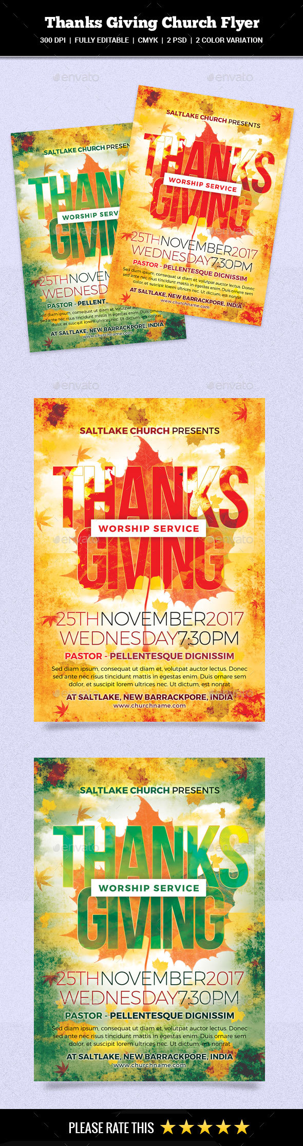 GraphicRiver Thanks Giving Church Flyer 20881141