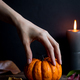 Spooky Hand and Halloween Pumpkin - PhotoDune Item for Sale
