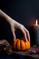 Spooky Hand and Halloween Pumpkin - PhotoDune Item for Sale