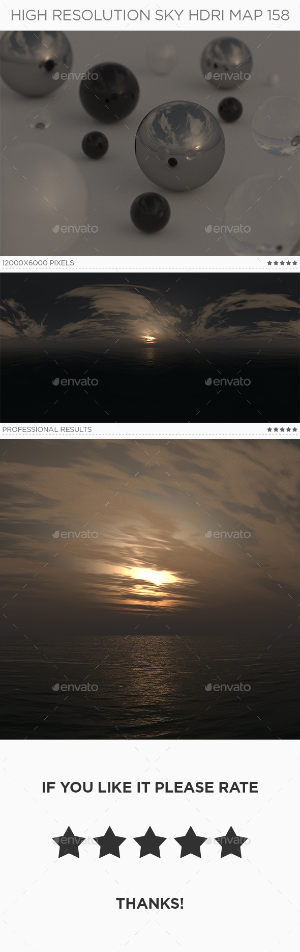 High Resolution Sky HDRi Map 158 - 3DOcean Item for Sale