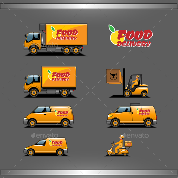 GraphicRiver Set of Fast Food Delivery Set 20881267