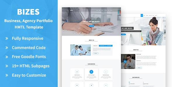 Bizes- Business, Agency and Portfolios HTML Template - Corporate Site Templates