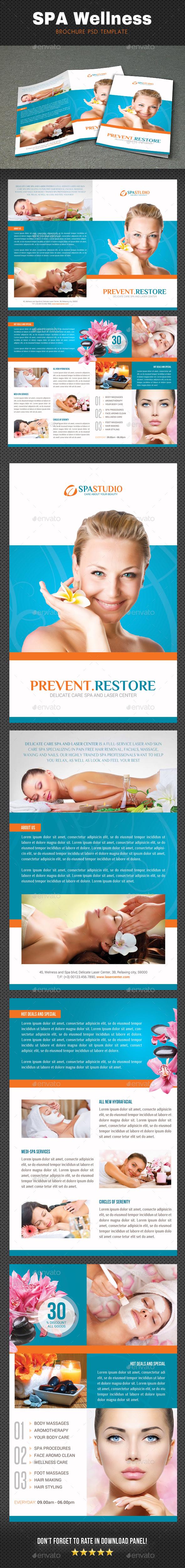 Spa Wellness Brochure 2 - Brochures Print Templates