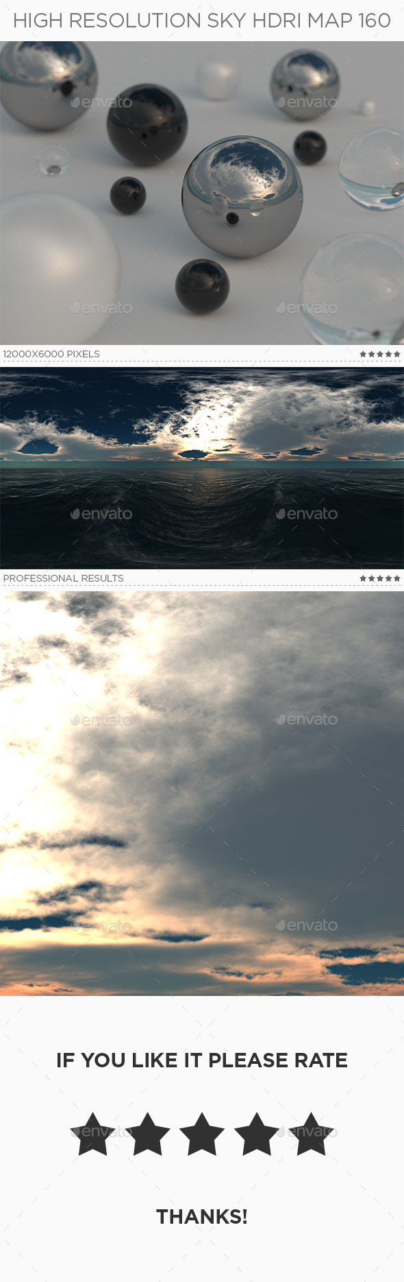 High Resolution Sky HDRi Map 160 - 3DOcean Item for Sale